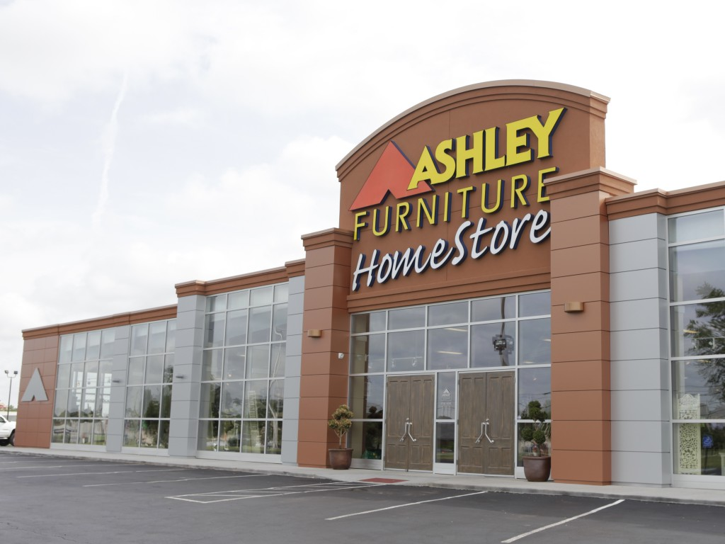 furniture store building. The Ashley Furniture Renovation Project Was A Of An Existing 39,791 Square Foot Building. Scope Work Consisted Complete Interior Store Building